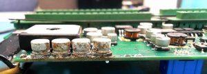 water damaged circuit board
